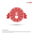 flower pot icon - red ribbon banner vector image