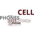 free cell phone text background word cloud concept vector image vector image