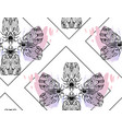 hand drawn textured lined ink graphic moth vector image vector image