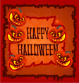Happy Halloween frame with pumpkins vector image vector image