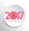 Happy new year 2017 Seasons Greetings blossom vector image vector image