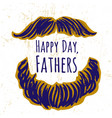 ink hand drawn background on fathers day vector image vector image