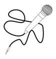 isolated microphone outline vector image