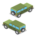 Isometric cars Isometric cars travel isolated on vector image