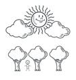 kid sun tree nature cartoon design vector image