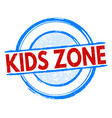 kids zone stamp vector image