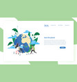 landing page template with group people of vector image vector image