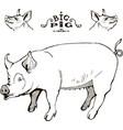 mama pig logo symbol clip art vector image