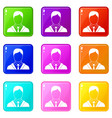 man in business suit set 9 vector image vector image
