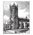 manchester cathedral vintage vector image vector image