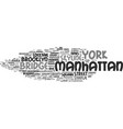 manhattan word cloud concept vector image vector image