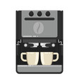 office coffee machine flat style cup vector image vector image
