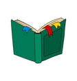 open book fairytale story vector image