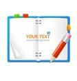 open personal organizer book vector image
