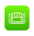 open semicircular window frame icon green vector image vector image