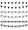 party flags set in black and white color vector image vector image