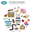 pet appliance icon set flat style isolated on vector image vector image
