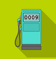 petrol filling stationoil single icon in flat vector image vector image