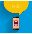 Phone speak concept vector image vector image