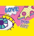 pop art funny cartoons vector image