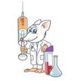rat lab cartoon fight against new covid19 19 vector image