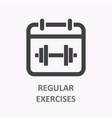 regular exercise icon on white background vector image