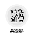 Reputation Management Line Icon vector image vector image