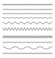 seamless line and wavy zigzag lines vector image