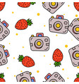seamless pattern various summer and beach icon vector image vector image