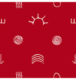 seamless pattern with australian aboriginal art