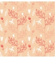 Seamless pattern with tree and flying birds vector image vector image
