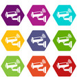 security camera icons set 9 vector image