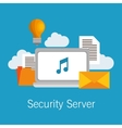 security server computer cloud documents idea vector image