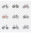 set of realistic symbols with triathlon bike ol vector image vector image