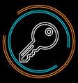simple key thin line icon vector image