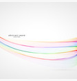 smooth soft colorful rainbow wave background vector image