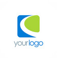 square loop business logo vector image vector image