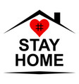 stay home self-isolation concept for protection vector image