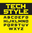 tech style brutal font vector image vector image