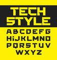 tech style brutal font vector image