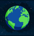 the earth from space in flat style vector image