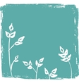Vintagebackground with leaves vector image vector image