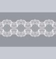 white lace ribbon vector image