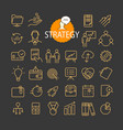 different business strategy icons collection web vector image