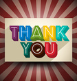 Thank You Vintage Card vector image