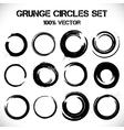 Set of grunge circles vector image