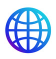 icon internet symbol of the website globe sign vector image