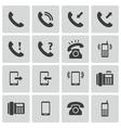 black telephone icons set