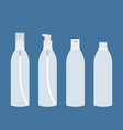 empty glass or plastic transparent packaging vector image