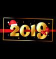 2019 happy new year background greeting card vector image vector image